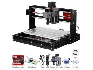 Upgrade Version CNC 3018 Pro GRBL Control DIY Mini CNC Machine 3 Axis Pcb Milling Machine Wood Router Engraver with Offline Controller with ER11 and 5mm Extension Rod Working Area 300*180x40mm