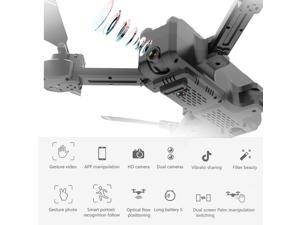 KF607 Wifi FPV Drone with Camera 4K Foldable Optical Flow Positioning Altitude Hold MV editing RC Quadcopter with 2 Batteries