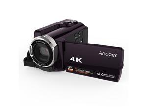Andoer HDV-534K 4K 48MP WiFi Digital Video Camera 1080P Full HD Novatek 96660 Chip 3inch Capacitive Touchscreen IR Infrared Night Sight Support 16X Zoom Face Detect