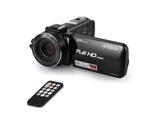 """Andoer HDV-Z82 1080P Full HD 24MP Digital Video Camera Camcorder 10X Optical Zoom with 3"""" LCD Touchscreen Remote Control LED Light Support External Mic Anti-shake Face Detect"""