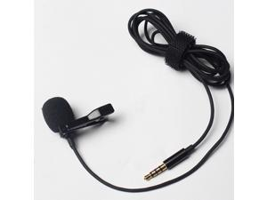 Portable Professional Grade Lavalier Microphone 3.5mm Jack Hands-free Omnidirectional Mic Easy Clip-on Perfect for Recording Live