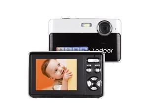 Andoer Portable Mini Digital Camera 24 Megapixels High Definition 2.4 Inch IPS Screen 3X Digital Zoom Face Detection with Built-in Lithium Battery for Indoor Outdoor Shooting Recording