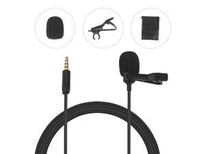 Omni-directional Electret Condenser Lavalier Microphone with 3.5mm TRRS 3m Cable