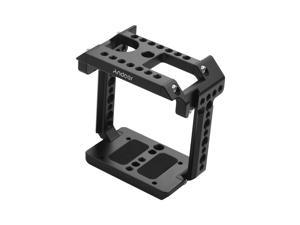 Andoer Metal Aluminum Camera Fitting Cage Compatible with Z CAM E2 with Cold Shoe Mount 1/4 Screw Shooting Accessories