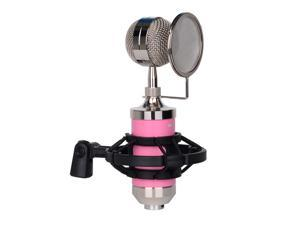 Recording Mic Cardioid Condenser Microphone Kit with Plastic Shock Mount Pop Filter Low Noise High Sensitive Microphone for Vocal Live Streaming Singing Broadcasting Musical Instrumentcondenser