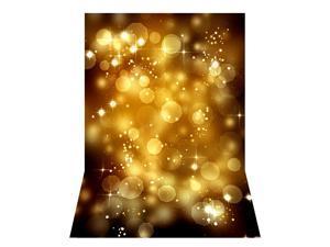 Andoer 1.5 * 2.1m/5 * 7ft Photography Background Glitter Light Bokeh Spot Star Backdrop Digital Printed Photo Studio Props