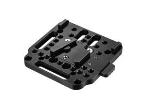 V-Lock Quick Release Plate Aluminum Alloy 1/4 Inch M3 M4 Countersink 1/4 Inch Thread for V-Mount Battery