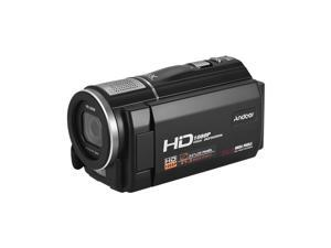 Andoer HDV-F5 1080P Full HD Digital Video Camera DV Recorder Camcorder 24MP 16X Digital Zoom 3.0 Inch Rotatable LCD Touchscreen Anti-shake with Remote Controller Battery