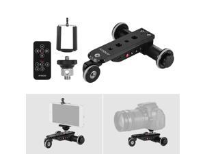 Andoer PPL-06S Pro Auto Dolly Motorized Video Slider Skater 5 Speeds Adjustable Aluminum Alloy Max. Load 4kg with USB Rechargeable Battery 2.4G Remote Control Phone Holder for Smartphone Action Camera