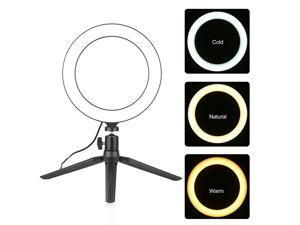 8inch Ring Light with Tripod Stand Rotable Selfie Makeup Ringlights with 3 Light Modes 10 Brightness Level for Video Live Stream Makeup Photography
