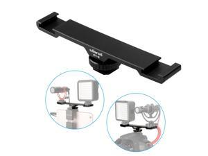Ulanzi PT-2 Double Hot Shoe Mount Extension Bar Dual Bracket for DV DSLR Camera Smartphone Mic LED Light