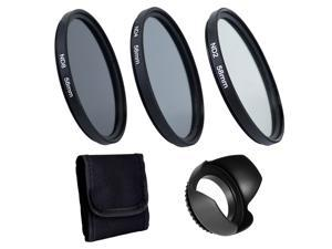 Professional Camera Lens Filters Kit Lens Hood For Canon Camera Dslr Photography Accessories 58mm