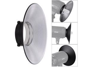 120 Degree Wide-angle Photography Flash Reflector Bowens Mount Diffuser Dish Aluminium Alloy Shooting Accessories