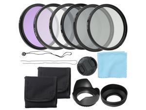 Professional Camera UV CPL FLD Lens Filters Kit and Altura Photo ND Neutral Density Filter Set Photography Accessories 58mm