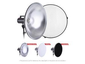Studio Photography 70cm/27.6 Inch Speedlite Strobe Lighting Diffuser Beauty Dish Lampshade Bowens Mount with Reflector Honeycomb Soft Cloth