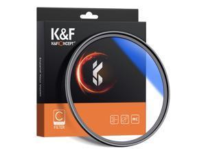 K&F CONCEPT 77mm Ultra Slim Multi Coated MC UV HD Lens Filter Compatible with Canon Nikon Sony DSLR Camera Lens