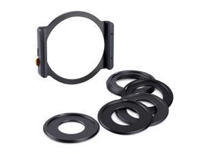 K&F CONCEPT Metal Square Filter Holder with 49mm 52mm 58mm 62mm 67mm 72mm 77mm 82mm Filter Adater Rings for DSLR ILDC Camera Lens