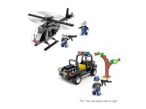 6-in-1 XIPOO 767pcs XP93515 War Wing Swat Air Command Building Blocks Educational Toys