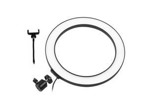 10 Inch LED Ring Light with Tripod Stand Phone Holder Remote Control 3200K-5500K Dimmable Table Camera Light Lamp 3 Light Modes & 10 Brightness Level for YouTube Video Photo Studio Live Stream