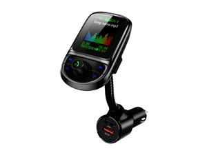 Car FM Transmitter Multifunctional MP3 Player with Dual USB Charging Port 1.8 Inch TFT Color Display Wireless BT