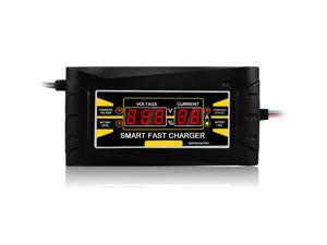 Full Automatic Car Battery Charger 150V/250V To 12V 6A  10ASmart Fast   Power Charging For Wet Dry Lead Acid Digital LCD Display EU Plug