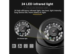 Security Camera 24LED IR AHD Camera Night Vision Audio HD 720P 1080P 1.0MP 2.0MP CCTV Surveillance Dome Camera with IR-Cut Black