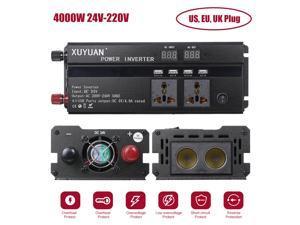 Car Inverter 3000W 4000W 5000W 12V/24V 110/220V DC to AC Power Inverter Dual Led Display Modified Sine Wave Power Voltage Transformer Converter