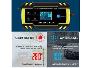 3-Stage Automatic Smart Battery Charger LCD Display