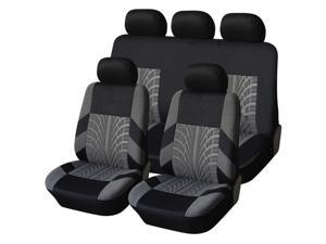9Pcs Luxury Car Seat Covers Front +Back Seat Black Scratch proof Four Seasons Bottoms Protectors,Compatible with 90% Vehicles for Most Car Truck Suv Van Seam Style