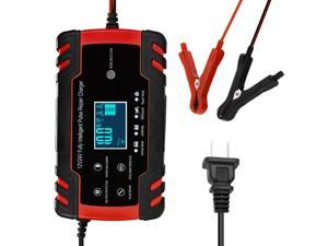 12V 24V Pulse Repairing Charger with LCD Display Motorcycle & Car Battery Charger AGM GEL WET Lead Acid   Battery Charger