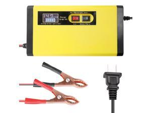 12V 8A Full Automatic Car Battery Charger Intelligent Fast Power Charging Pulse Repair Chargers Wet Dry Lead Acid Battery-chargers with Digital LCD Display