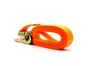 13 FT Porable Heavy Duty Tie Down Cargo Strap Luggage Lashing Strong Ratchet Strap Belt with Metal Buckle