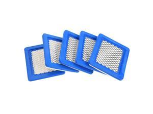 5 Pack 491588S Air Filter, Replacement for Briggs Stratton 491588 4915885 Flat OEM Air Cleaner Cartridge, Lawn Mower Air Filter