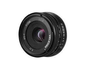 VELEDGE 32mm F/1.6 Super High Resolution Large Aperture Standard Camera Prime Lens Lightweight MF Manual Focus Lens  0.25m Closest Focal Length for Fuji Fujifilm   X-Mount Mirrorless Cameras for Fuji