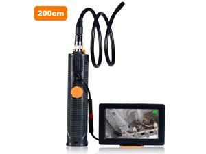 Industrial Endoscope with Screen Inspection Camera 8.5mm Endoscope-Borescope 6.6ft Cable 6 Adjustable LED Lights 4.5 Inches Display Screen Waterproof