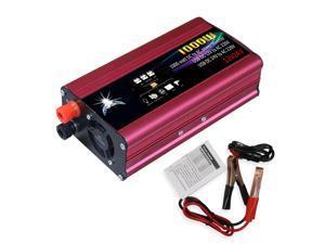 Car Power Inverter LED Indicator Power Converter Intelligent Cooling Universal Modified Sine Wave 1000W DC 12V/24V to 220V AC