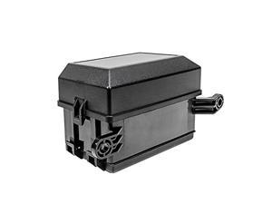 12-Slot Relay Box 6 Relays 6 ATC/ATO Standard Fuses Holder Block with 41pcs Metallic Pins Universal for Automotive and Marine Use