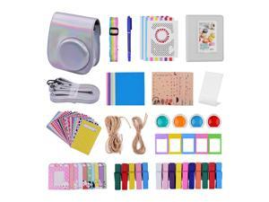12-in-1 Instant Camera Accessories Bundle Kit Compatible with Fujifilm Instax Mini 11 Including Camera Bag/Camera Strap/Photo Album/Photo Clips/Photo Frame/Hanging String/Stickers/Pen/Filters