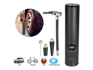 Portable Air Compressor Mini Air Inflator Hand Held Tire Pump with Digital LCD LED Light Li-ion 12V 150PSI for Car Bicycle RV and Other Inflatables