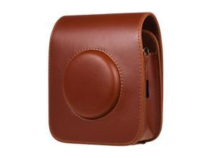 Portable PU Leather Camera Case Bag with Shoulder Strap Compatible with Fujifilm Fuji Instax SQ20 Instant Camera