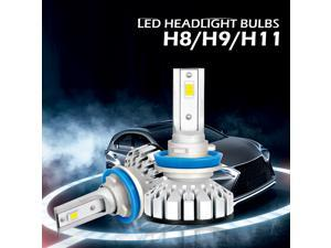 LED Headlights Lamps All-in-One Conversion Light Kit H11 H8 H9 HB2 9003 6000K 8000LM for Car Trunk SUV