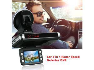 Anti Radar Detector Car DVR 2 in 1 720P Dash Cam Radar Speed Detector with Full Band Mute Button Loop Recording G-Sensor