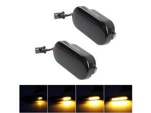 2pcs Dynamic LED Side Marker Turn Signal Light Blinker Light Replacement For VW Golf/ Passat/ Polo/ Sharan