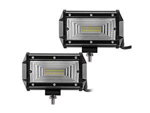 LED Light Bar 5-Inch 240-watt Driving Fog Off Road Lights Waterproof Spot Flood Combo Beam LED Cubes Lights for Pickup Truck SUV Boat, 2 Pack
