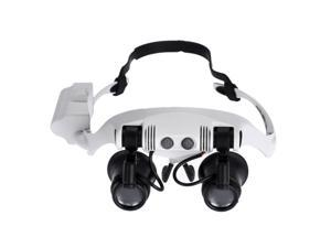 Professional Magnifying Glasses Magnifier Glasses with LED Light Headband Magnifier with 4 Pair Replaceable Lenses for Eyelash Extension Loupe