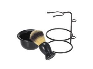 Shaving Brush Stand & Bowl Set Metal Shaving Brush Holder Soap Bowl Mug Plastic for Men Beard Removal Tools