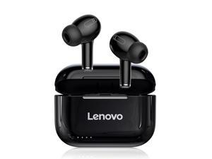 Lenovo LP1S True Wireless Earbuds BT 5.0 Headphones TWS Stereo Earphones with Dual Diaphragms Dual Hosts IPX4 Waterproof Sports Headphones with Noise Reduction Technology HD call in-Ear Built-in Mic