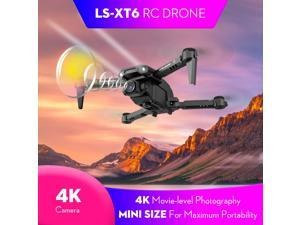 LS-XT6 RC Drone with Camera 4K Camera Track Flight Gravity Sensor Gesture Photo Video Altitude Hold Headless Mode RC Quadcopter for Adults Kid