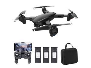 SG701 RC Drone with Camera 4K Dual Camera Wifi FPV Drone Foldable RC Quadcopter with Headless Mode Trajectory Flight with Bag 3 Battery