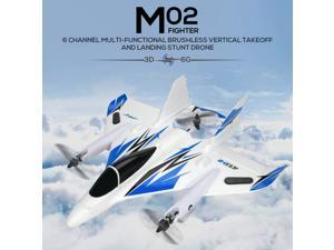 JJRC MO2 2.4G 6CH 3D/6G RC Airplane Brushless Multi-motor Vertical Takeoff Outdoor Stunt LED RC Glider Fixed Wing Aircraft RTF